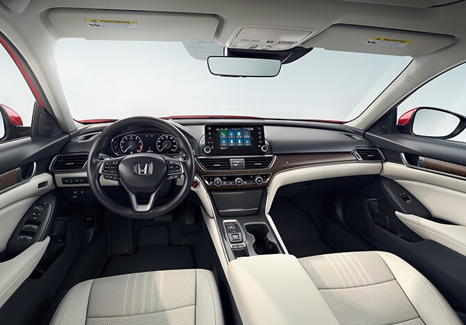 The 2020 Honda Accord Sedan has a sleek interior and is for sale near Lombard IL