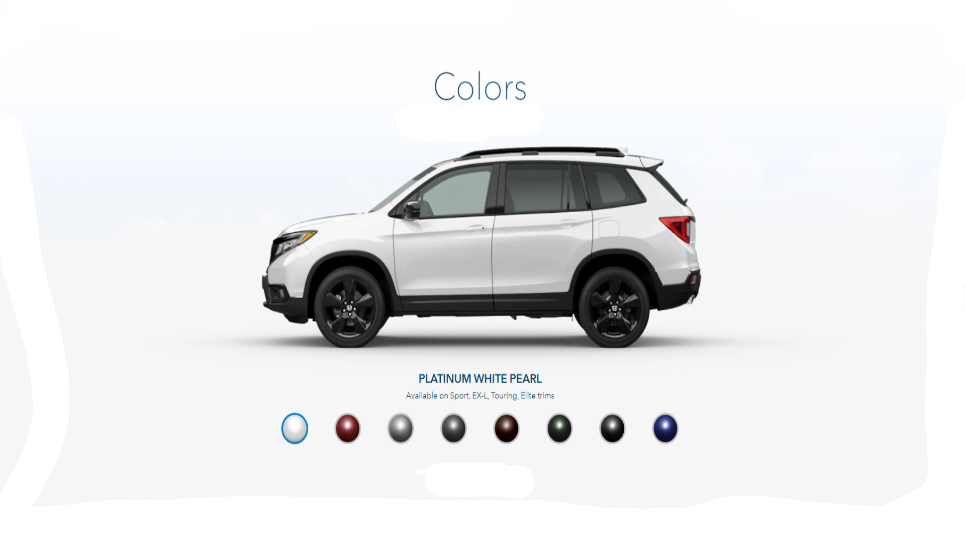 2020 Honda Passport Exterior Colors