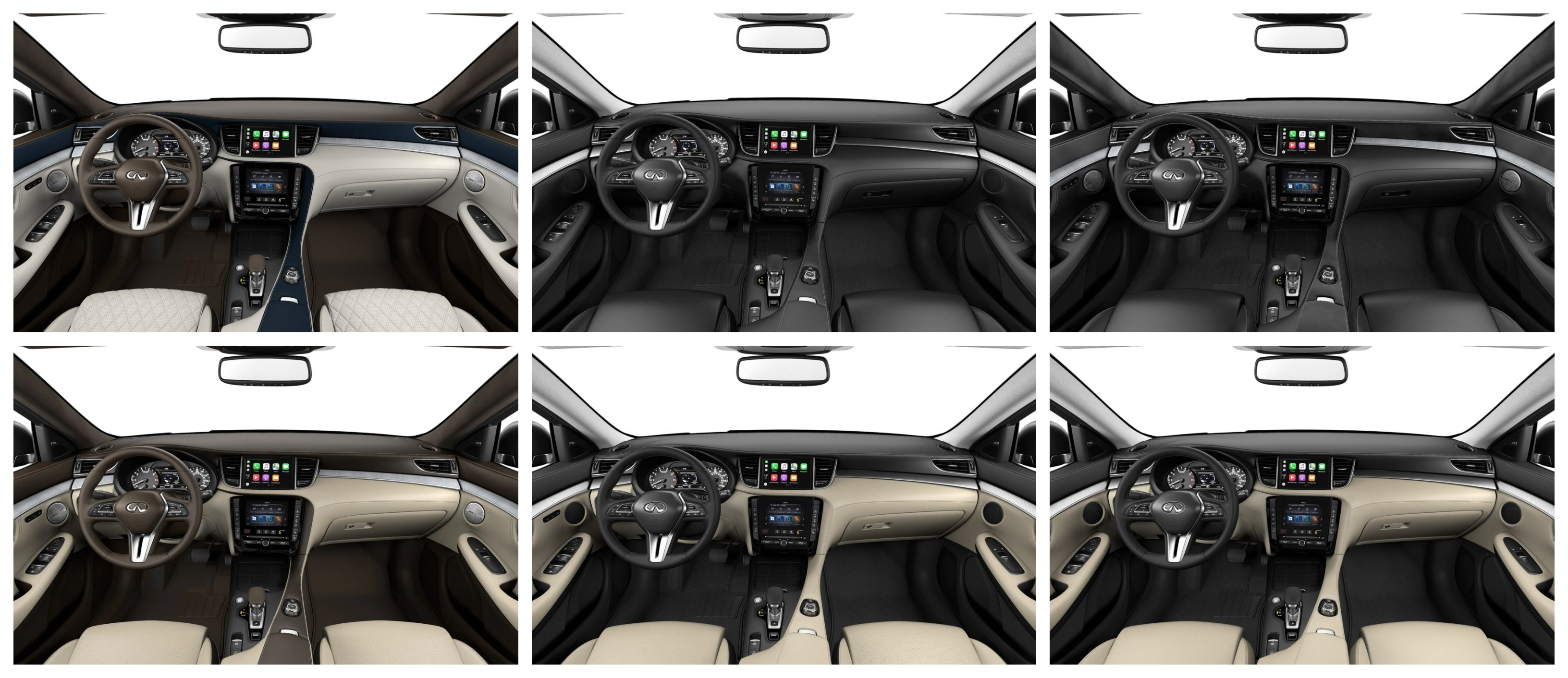 2020 INFINITI QX50 Interior Color Options Collage