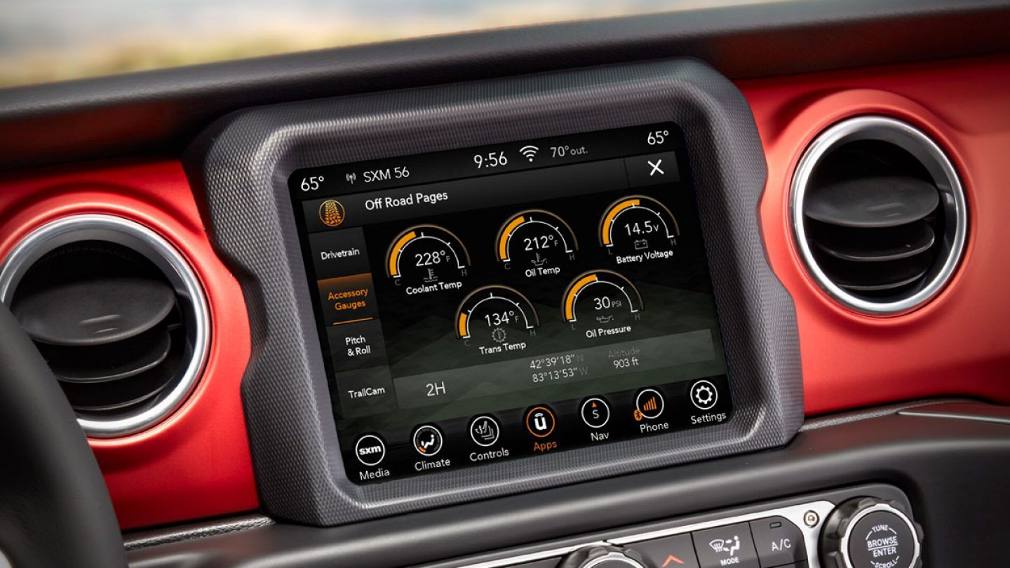 2020 Jeep Gladiator Technology Features