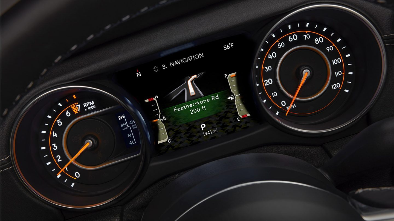 wrangler interior gauge cluster