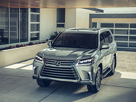 2020 Lexus LX 570 Exterior with an aggressive stance