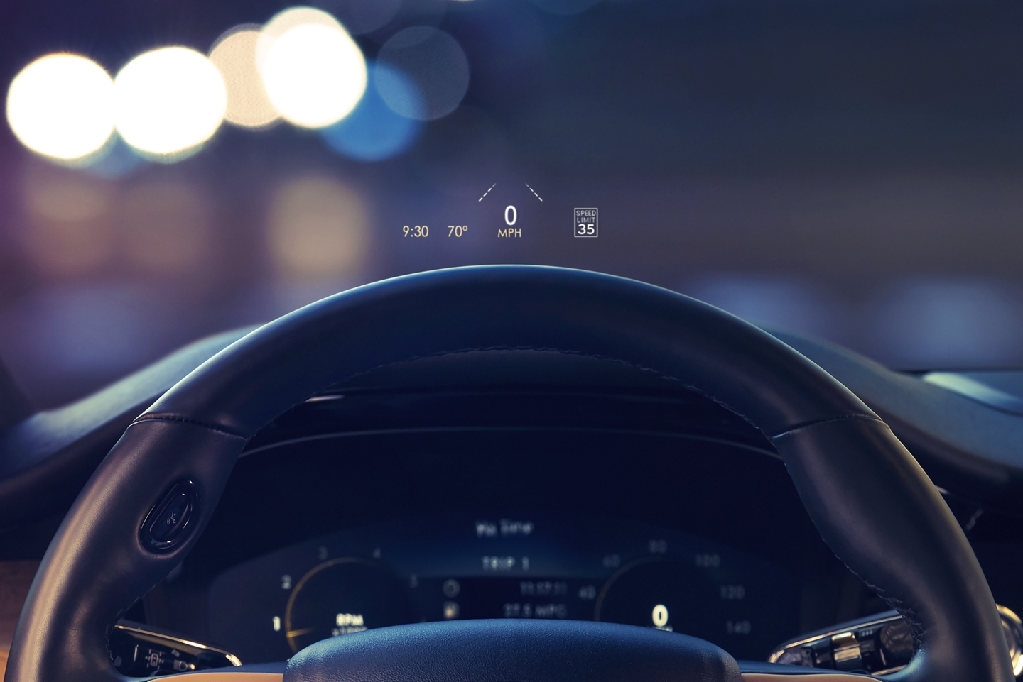 Heads up display inside the 2020 Lincoln Corsair