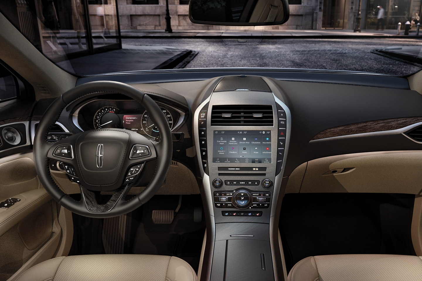 Touchscreen display inside the 2020 Lincoln MKZ