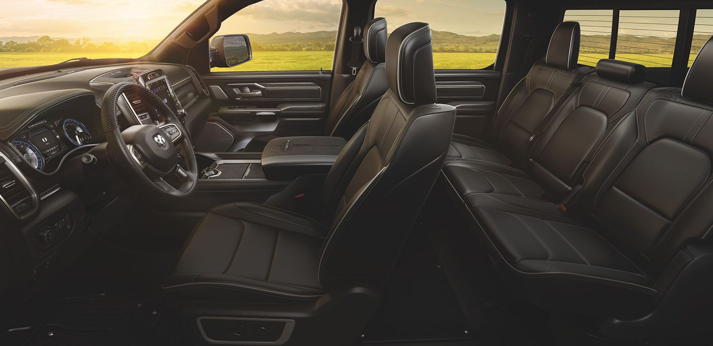 The 2020 Ram 1500 has a spaceous interior and is avaliable at Mancari CDJR in Chicago, IL