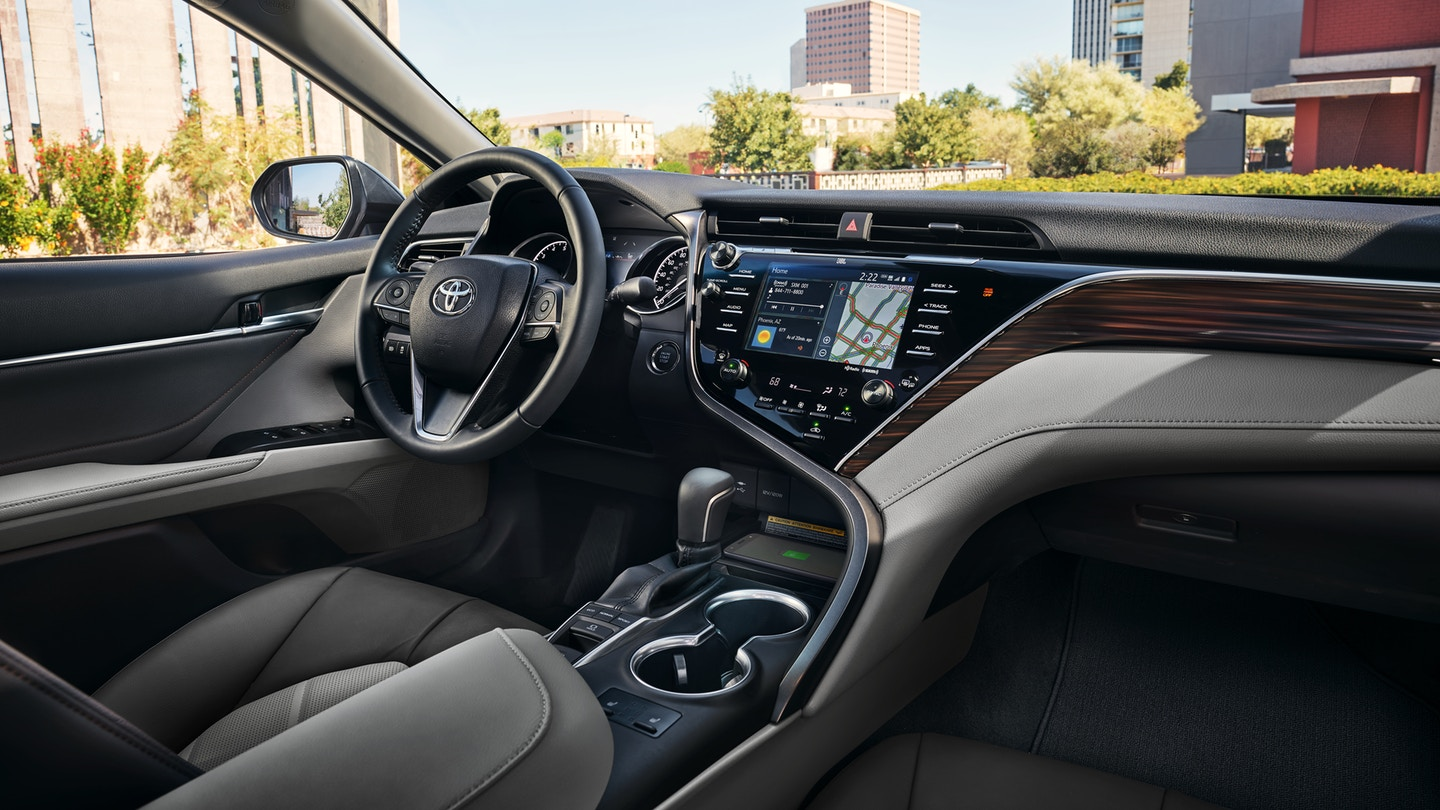 The 2020 Toyota Camry with a gorgeous interior for sale at Arlington Toyota in Jacksonville, FL
