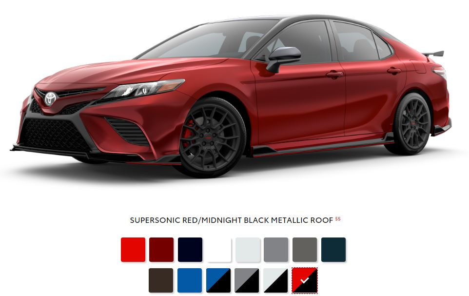 The 2020 Toyota Camry with a sleek exterior for sale at Arlington Toyota in Jacksonville, FL