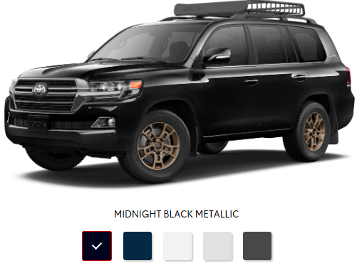 The 2020 Toyota Land Cruiser with a sleek exterior for sale at Arlington Toyota in Jacksonville, FL