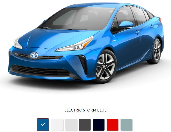 The 2020 Toyota Prius with a sleek exterior for sale at Arlington Toyota in Jacksonville, FL