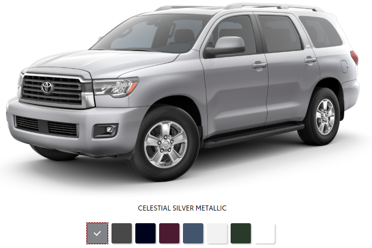 The 2020 Toyota Sequoia with a sleek exterior for sale at Arlington Toyota in Jacksonville, FL