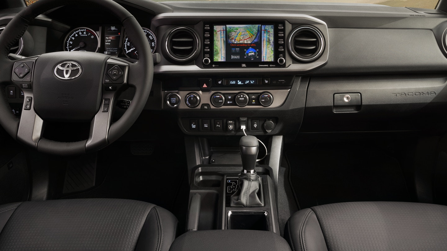 The 2020 Toyota Tacoma with a gorgeous interior for sale at Arlington Toyota in Jacksonville, FL