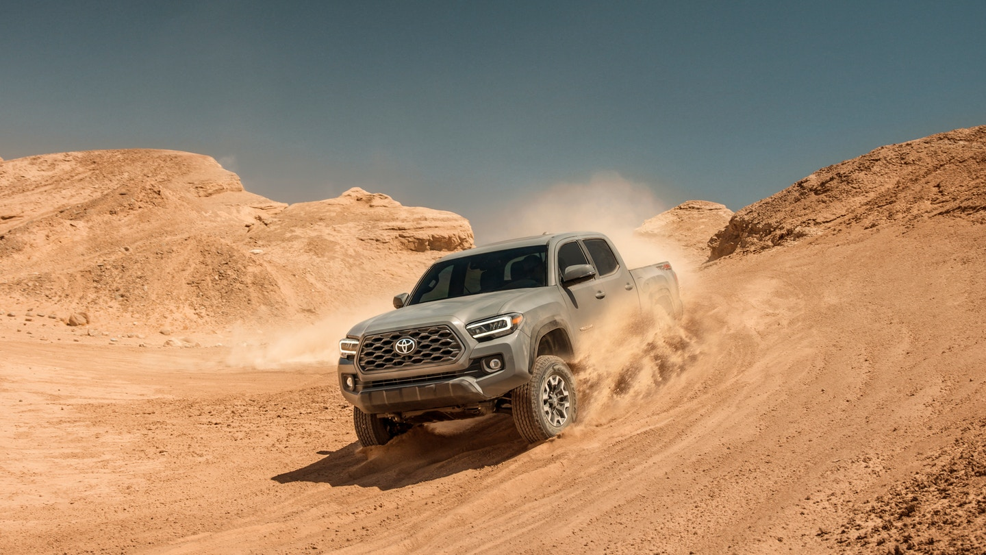 The 2020 Toyota Tacoma with must have safety features for sale at Arlington Toyota in Jacksonville, FL