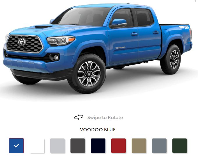 The 2020 Toyota Tacoma with a sleek exterior for sale at Arlington Toyota in Jacksonville, FL