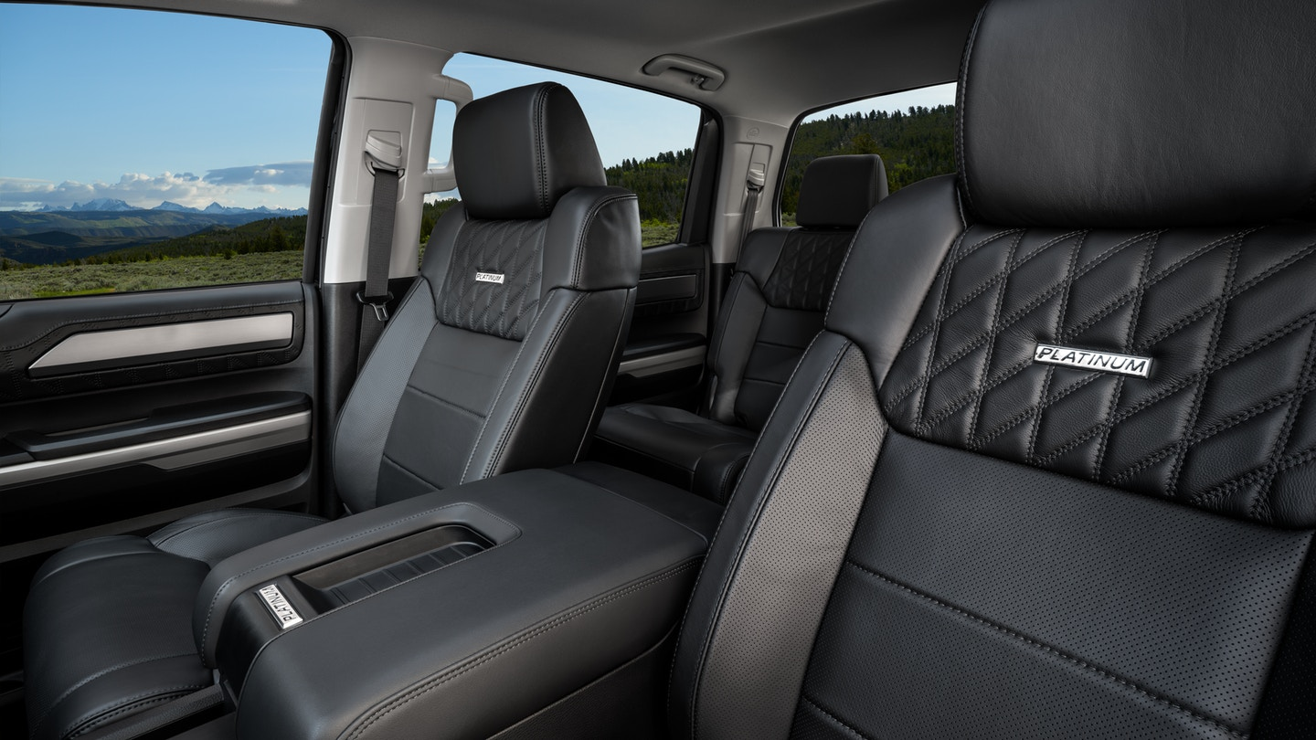 The 2020 Toyota Tundra with a gorgeous interior for sale at Arlington Toyota in Jacksonville, FL