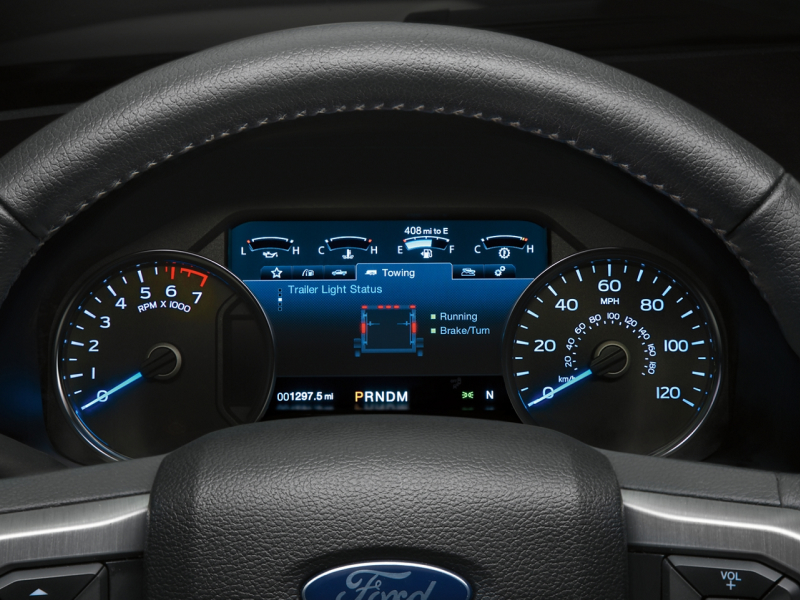 LCD instrument cluster inside the 2020 Ford F-150