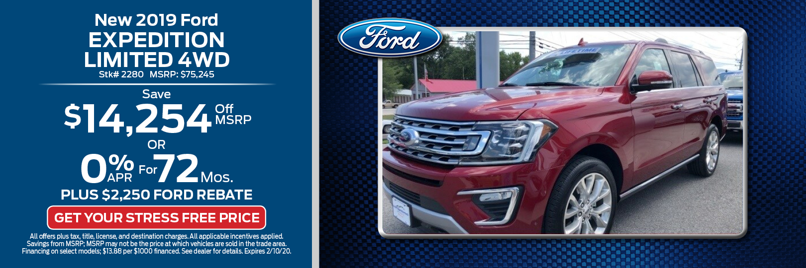 New 2019 Ford Expedition Limited 4WD